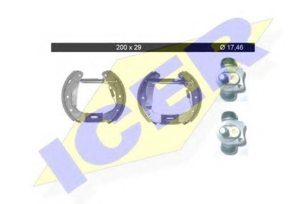 ICER 79KT0036C Комплект тормозных колодок