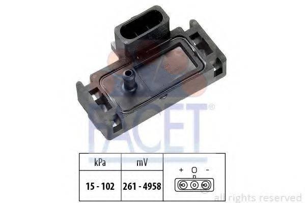 FACET 103001 Датчик давления воздуха, высотный корректор; Датчик, давление во впускном газопроводе