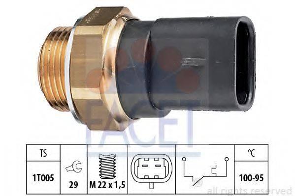 FACET 75117 Термовыключатель, вентилятор радиатора