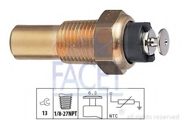 FACET 73005 Датчик, температура охлаждающей жидкости