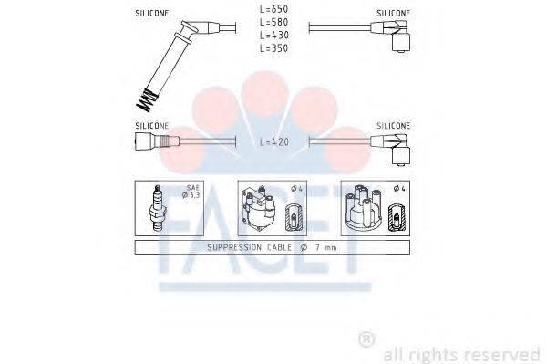 FACET 49237 Комплект проводов зажигания