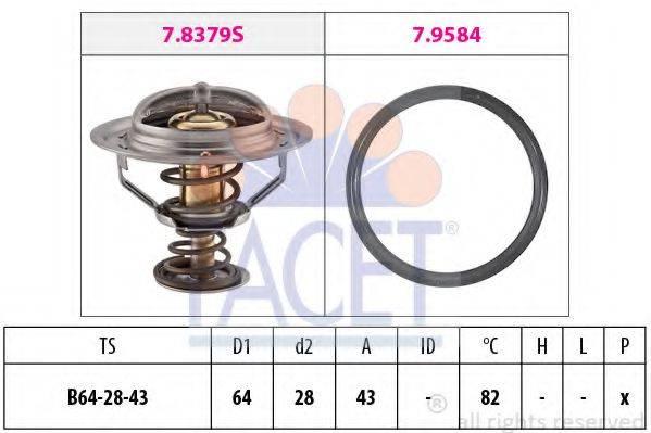 FACET 78649 Термостат, охлаждающая жидкость