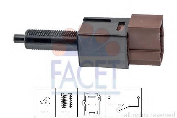 FACET 71265 Выключатель фонаря сигнала торможения; Выключатель, привод сцепления (Tempomat)
