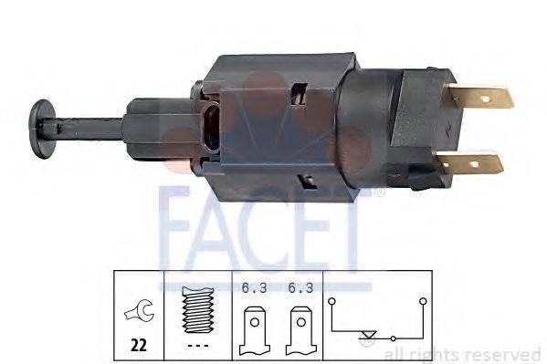 FACET 71050 Выключатель фонаря сигнала торможения