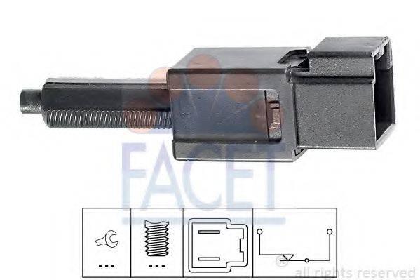FACET 71165 Выключатель фонаря сигнала торможения; Выключатель, привод сцепления (Tempomat)