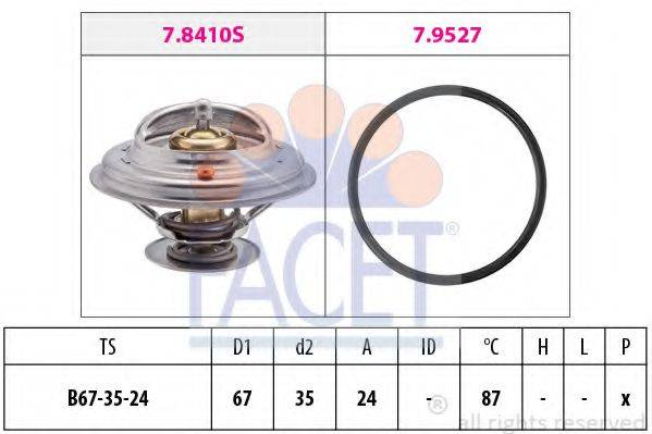 FACET 78410 Термостат, охлаждающая жидкость