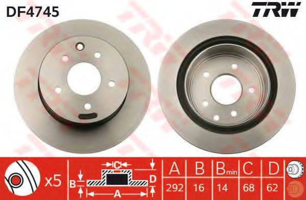 TRW DF4745 Тормозной диск