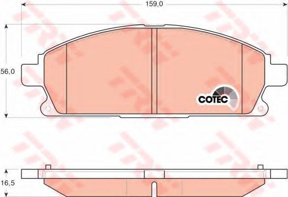 TRW GDB3293 Комплект тормозных колодок, дисковый тормоз