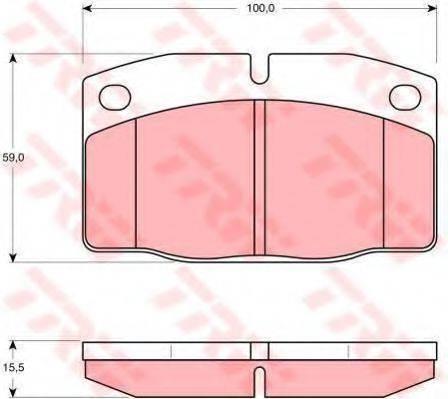 TRW GTD1009 Комплект тормозов, дисковый тормозной механизм