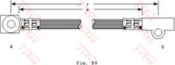 TRW PHD226 Тормозной шланг