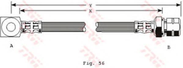 TRW PHD243 Тормозной шланг