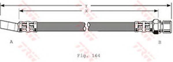 TRW PHD348 Тормозной шланг