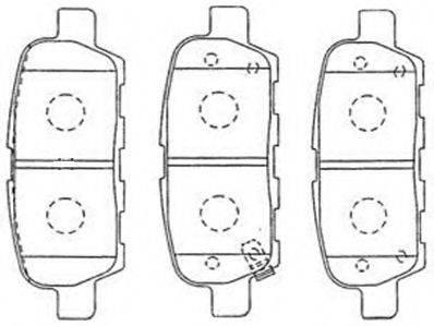 AISIN B2N095 Комплект тормозных колодок, дисковый тормоз