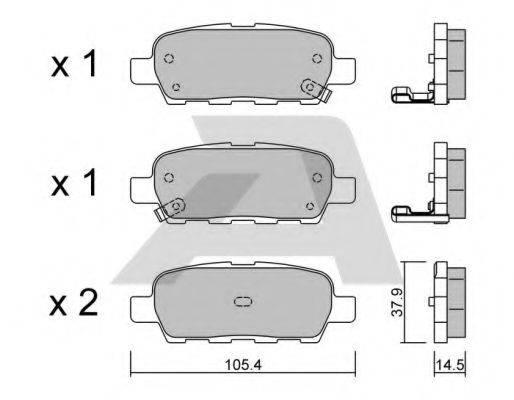 AISIN BPNI2001 Комплект тормозных колодок, дисковый тормоз