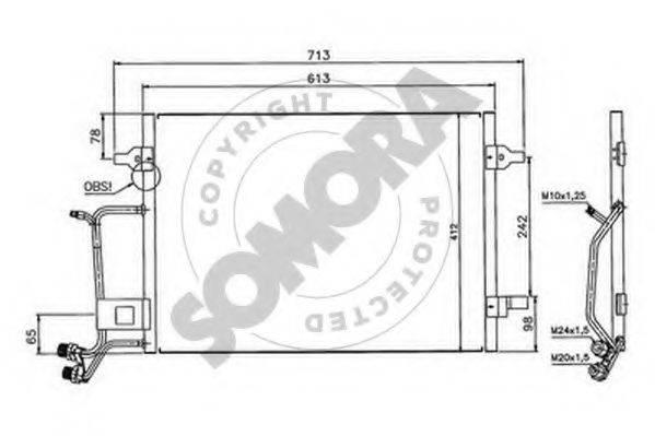 SOMORA 020960 Конденсатор, кондиционер