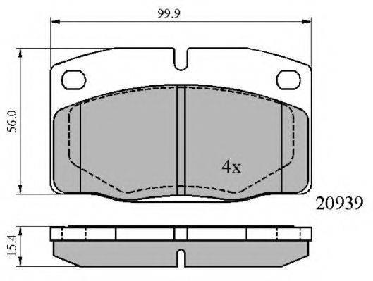 NATIONAL NP2634 Комплект тормозных колодок, дисковый тормоз