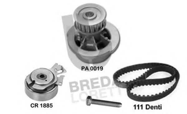 BREDA LORETT KPA0019A Водяной насос + комплект зубчатого ремня