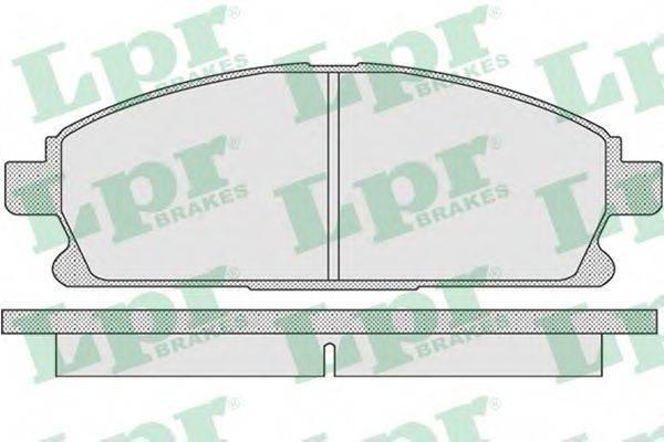 LPR 05P935 Комплект тормозных колодок, дисковый тормоз