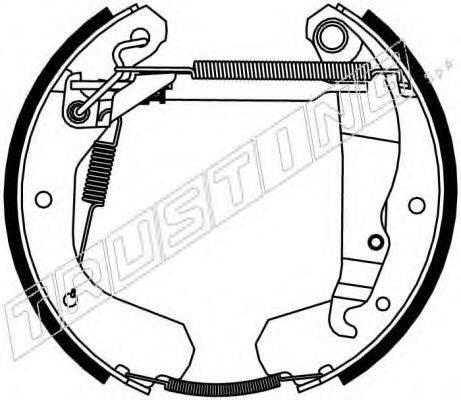 TRUSTING 6037 Комплект тормозных колодок