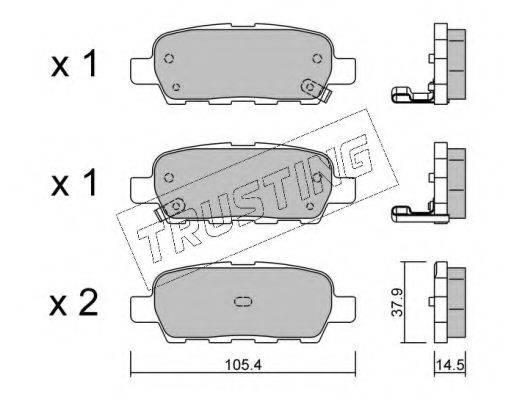 TRUSTING 6280 Комплект тормозных колодок, дисковый тормоз