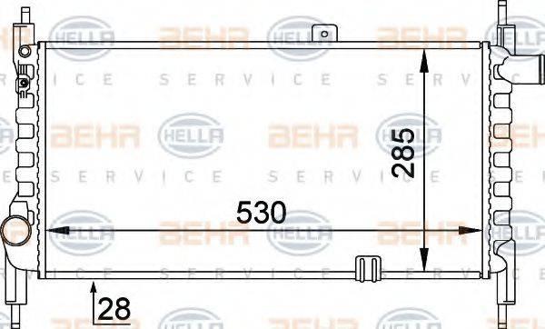 HELLA 8MK376714281 Радиатор, охлаждение двигателя