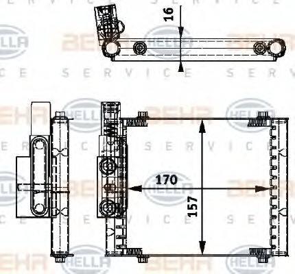 HELLA 8MO376726231 Масляный радиатор, автоматическая коробка передач
