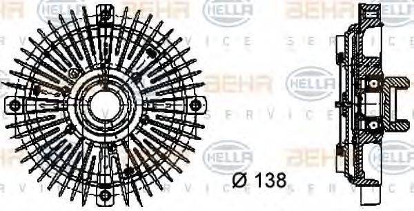 HELLA 8MV376732021 Сцепление, вентилятор радиатора