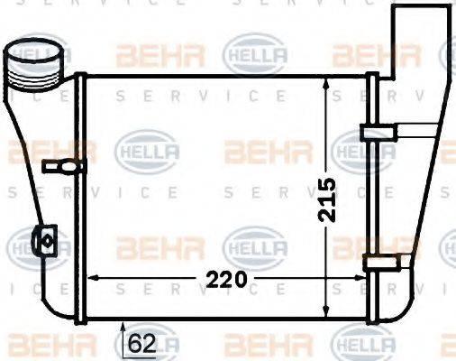 HELLA 8ML376776081 Интеркулер