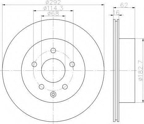 HELLA 8DD355112391 Тормозной диск