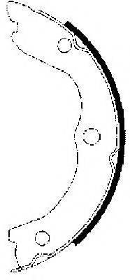 HELLA 8DA355050611 Комплект тормозных колодок, стояночная тормозная система