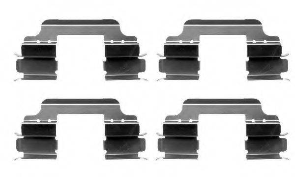 HELLA 8DZ355203141 Комплектующие, колодки дискового тормоза