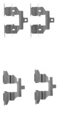 HELLA 8DZ355203791 Комплектующие, колодки дискового тормоза
