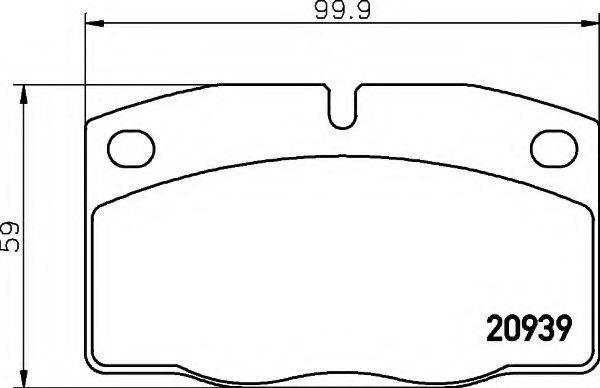 HELLA 8DB355007251 Комплект тормозных колодок, дисковый тормоз