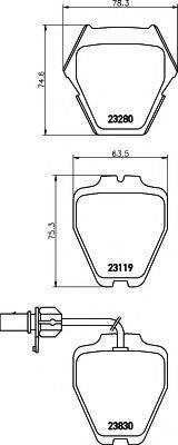 HELLA 8DB355009031 Комплект тормозных колодок, дисковый тормоз