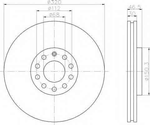 HELLA 8DD355107621 Тормозной диск