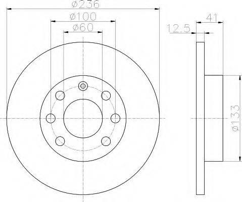 HELLA 8DD355100431 Тормозной диск