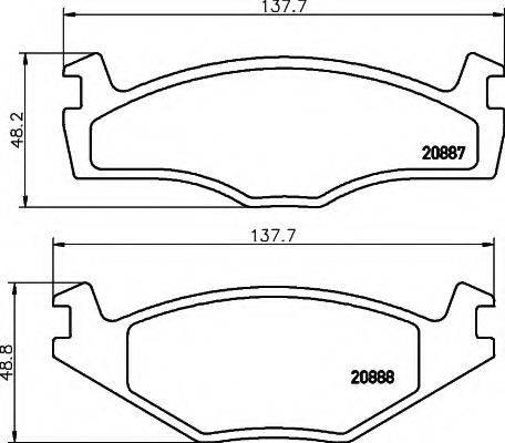 RHIAG 00118 Комплект тормозных колодок, дисковый тормоз