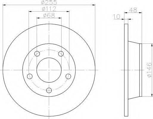HELLA 8DD355109081 Тормозной диск
