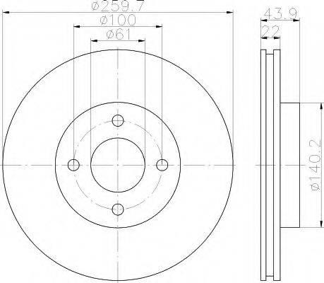 HELLA 8DD355118291 Тормозной диск