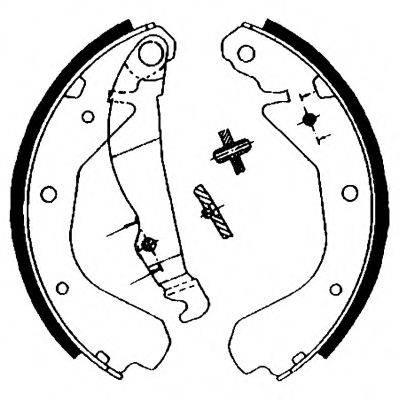 HELLA 8DB355000621 Комплект тормозных колодок