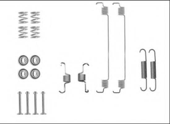 HELLA 8DZ355206051 Комплектующие, тормозная колодка