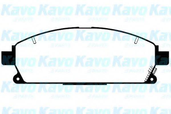 KAVO PARTS BP6559 Комплект тормозных колодок, дисковый тормоз