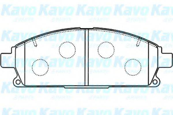 KAVO PARTS BP6569 Комплект тормозных колодок, дисковый тормоз