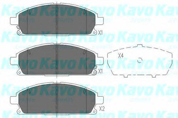 KAVO PARTS KBP6515 Комплект тормозных колодок, дисковый тормоз