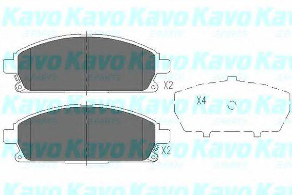 KAVO PARTS KBP6516 Комплект тормозных колодок, дисковый тормоз