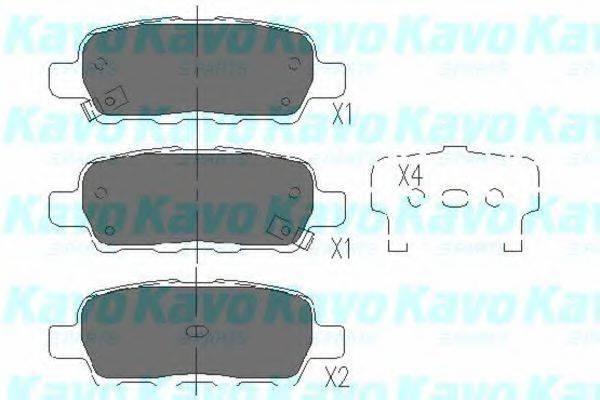 KAVO PARTS KBP6517 Комплект тормозных колодок, дисковый тормоз