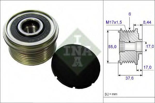 INA 535024610 Механизм свободного хода генератора