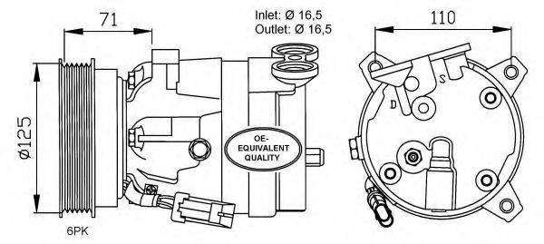 NRF 32023 Компрессор, кондиционер