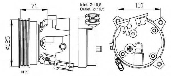 NRF 32023G Компрессор, кондиционер