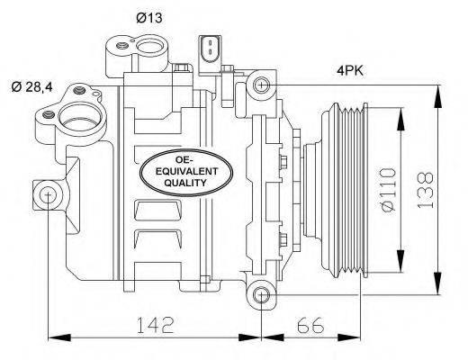 NRF 32106 Компрессор, кондиционер